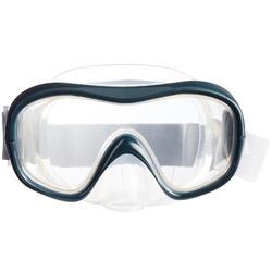 Masque d'apnée freediving FRD100 gris pour adultes
