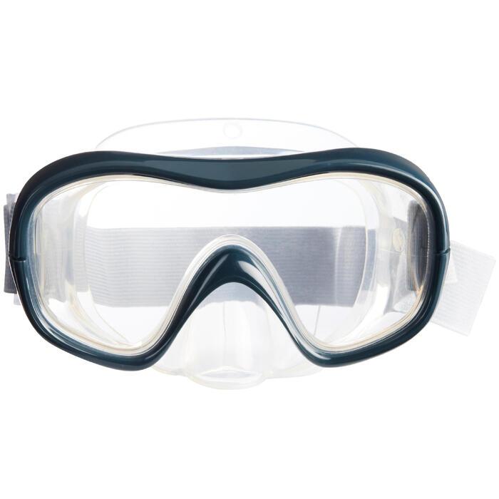 Masque de Snorkeling SNK 500 gris pour adultes ou enfants