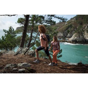 Zapatillas de senderismo en naturaleza NH300 mid impermeable verde/caqui mujer