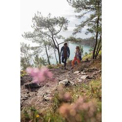 Fleecejacke Hybrid Naturwandern NH100 Damen grau