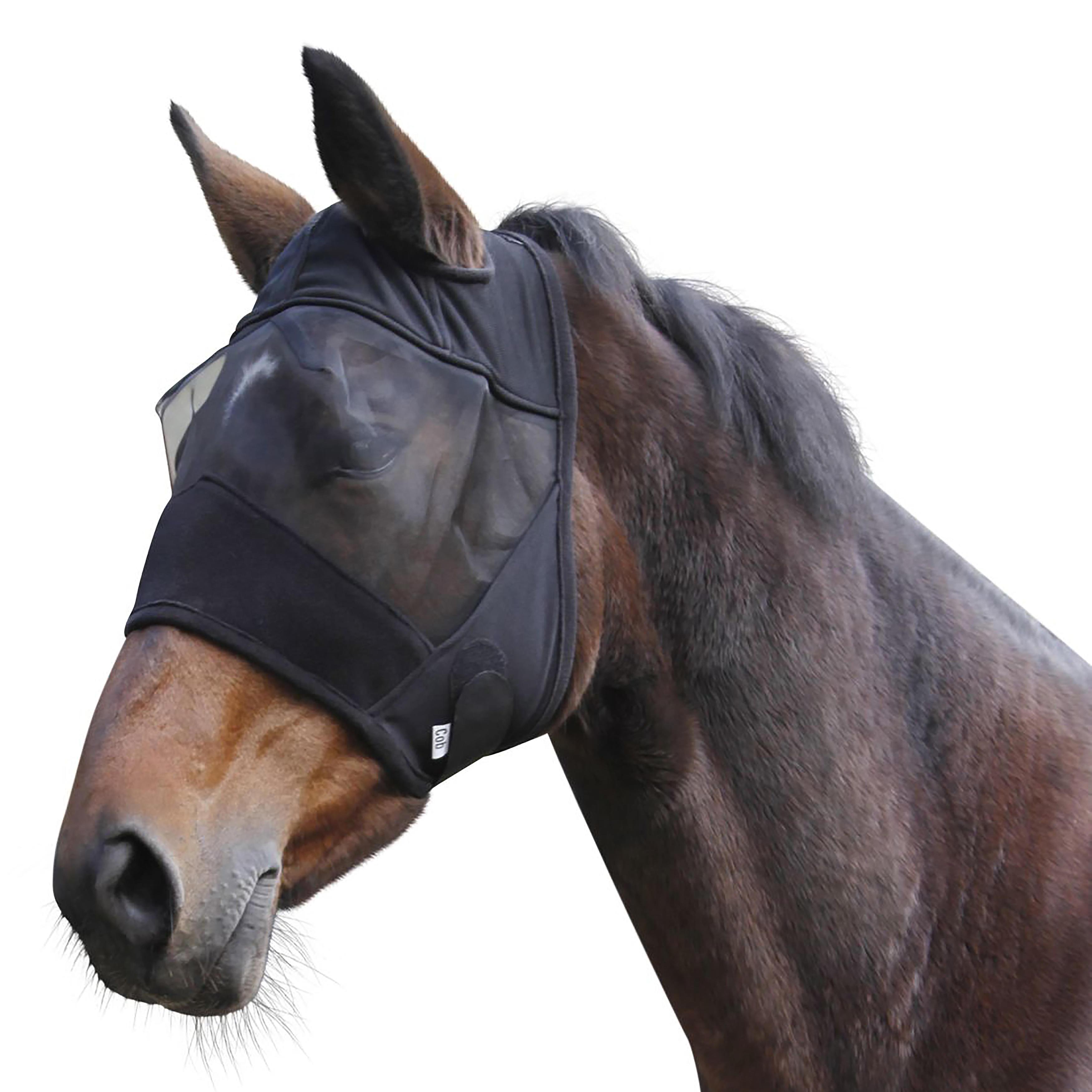 Kerbl Vliegenmasker voor ruitersport (pony's en paarden) zwart