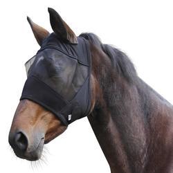 Máscara antimoscas equitación poni y caballo Negro