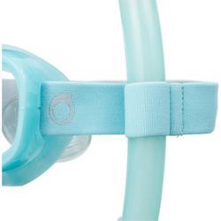 Snorkel voor vrijduiken FRD120 turquoise voor volwassenen