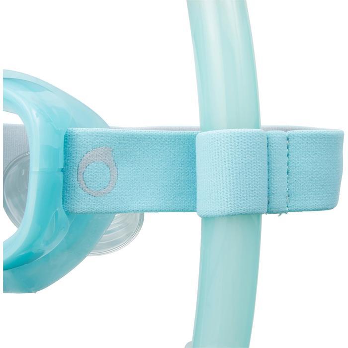 Tuba d'apnée freediving FRD120 turquoise pour adultes