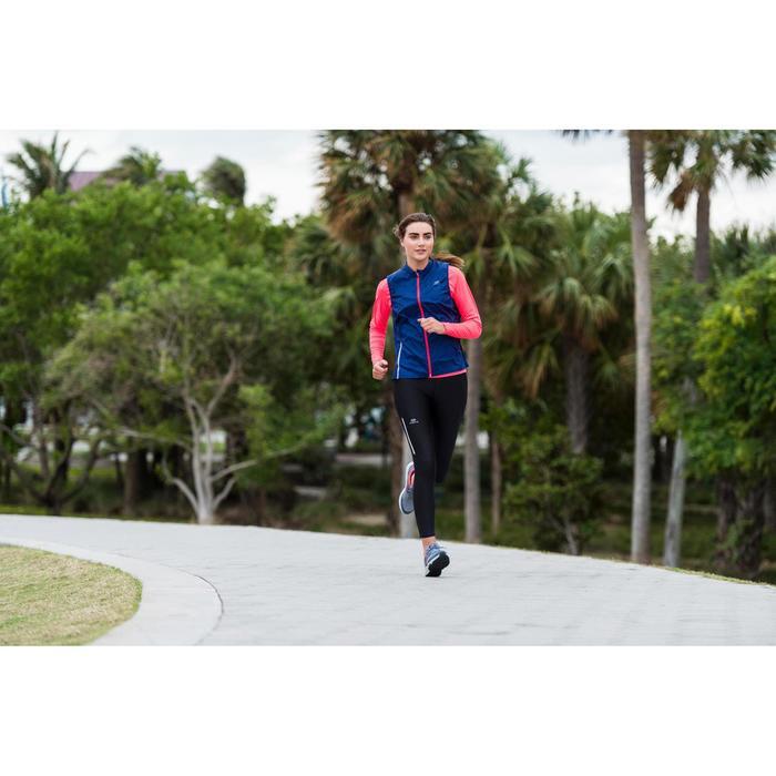 CHALECO DE RUNNING MUJER RUN WIND AZUL CORAL