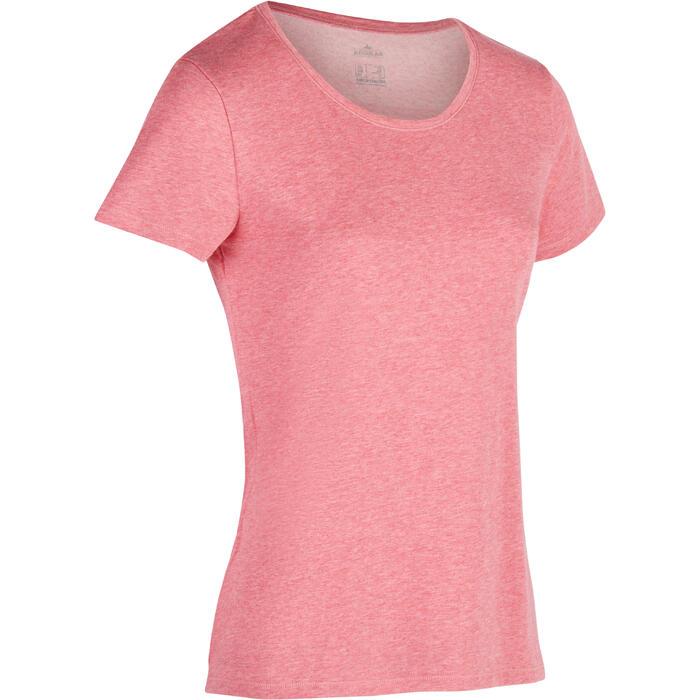 T-Shirt 500 régular manches courtes Gym & Pilates femme chiné - 1336316