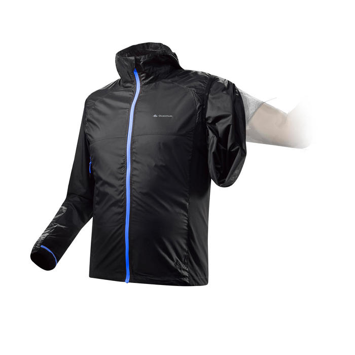 男款2合1防風健行背心/外套Helium FH900-黑色