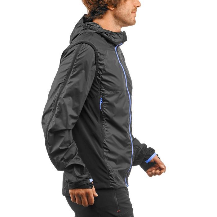 2-in-1 herenwindjack voor fast hiking FH900 Helium Wind zwart