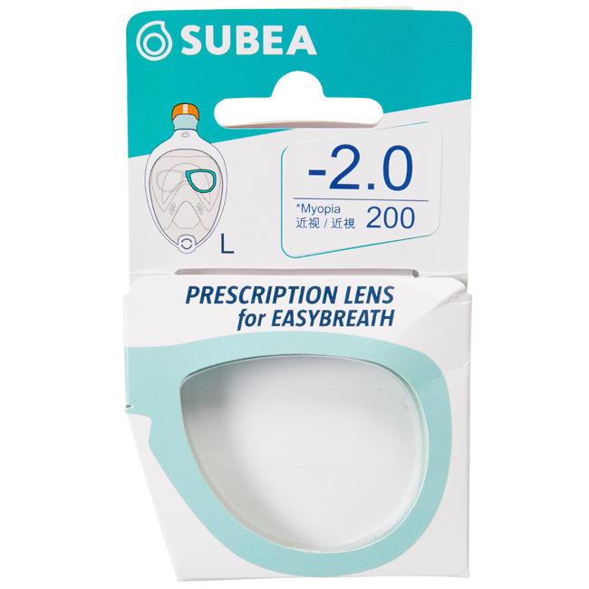 Left corrective lens for Easybreath masks