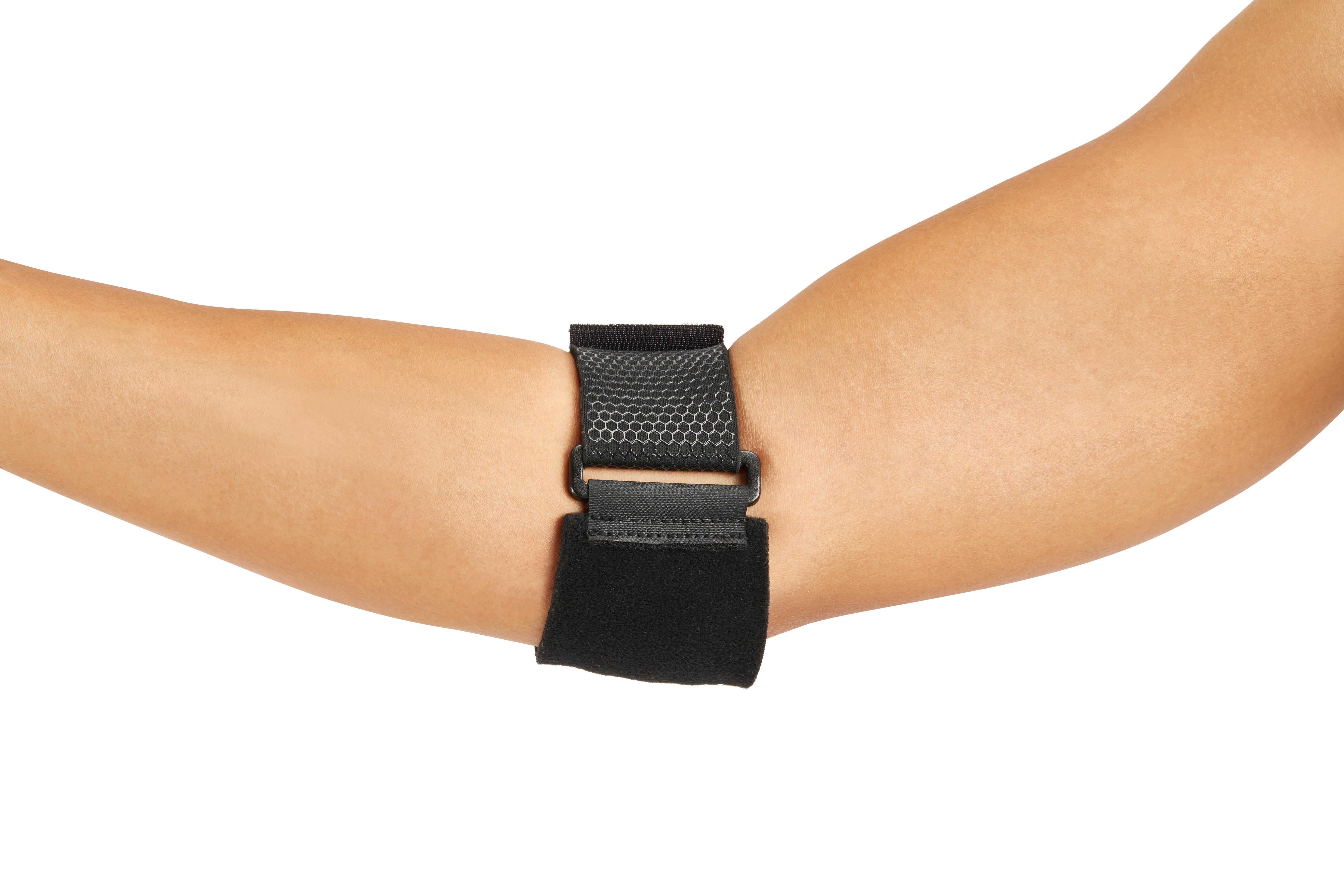 Men's/Women's Left/Right Supportive Elbow Strap - Black