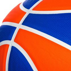 Balón de baloncesto júnior Wizzy Playground azul naranja talla 5.