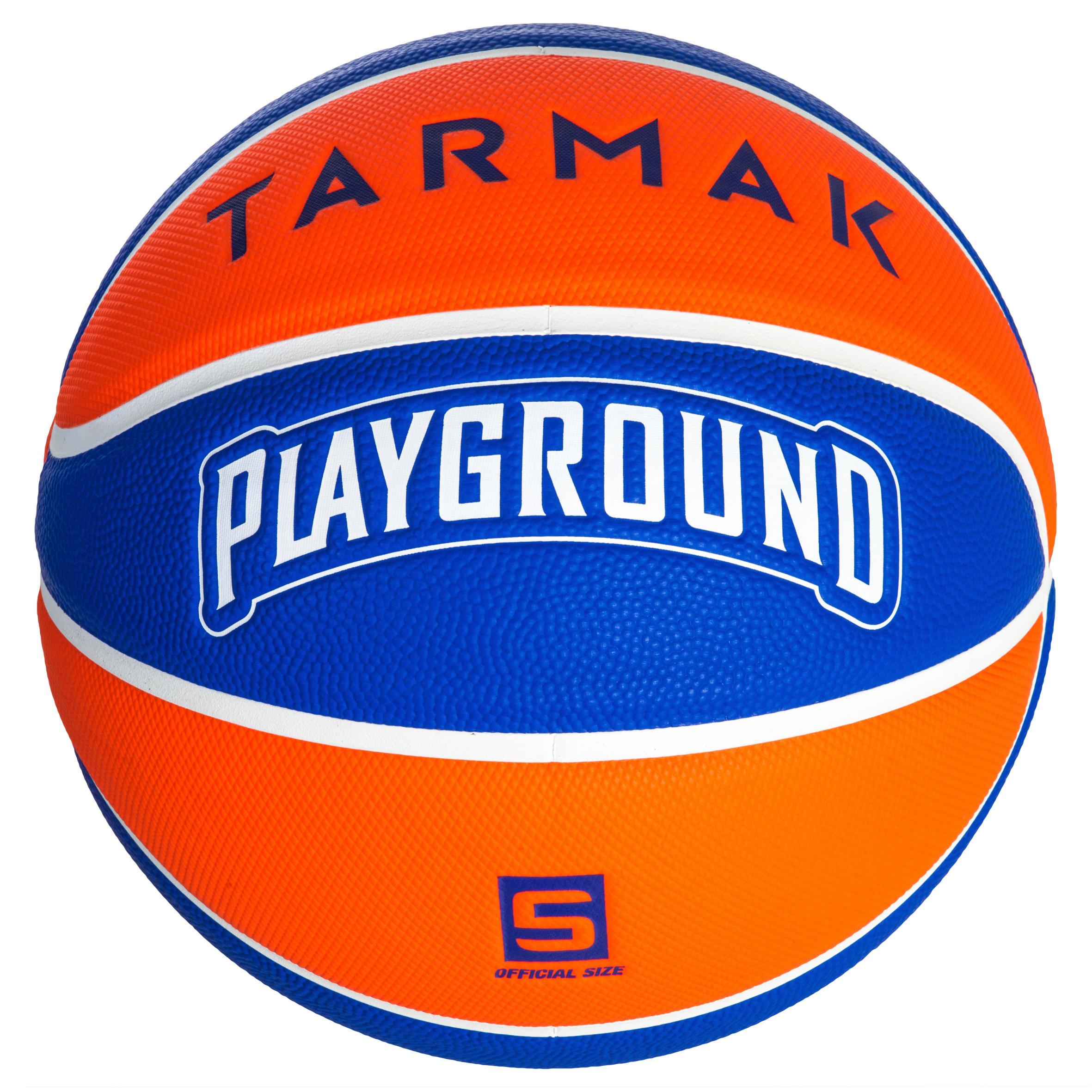 Wizzy Playground Kids' Size 5 Basketball - Blue/Orange Up to 10 years.