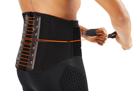 Soft 900 Men's/Women's Supportive Lumbar Brace - Black