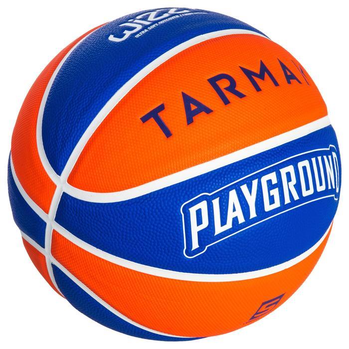 Basketbal voor kinderen Wizzy maat 5 Playground blauw oranje.