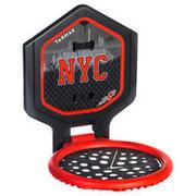 Canasta de básquetbol THE HOOP NYC niños/adultos negro rojo. Transportable.