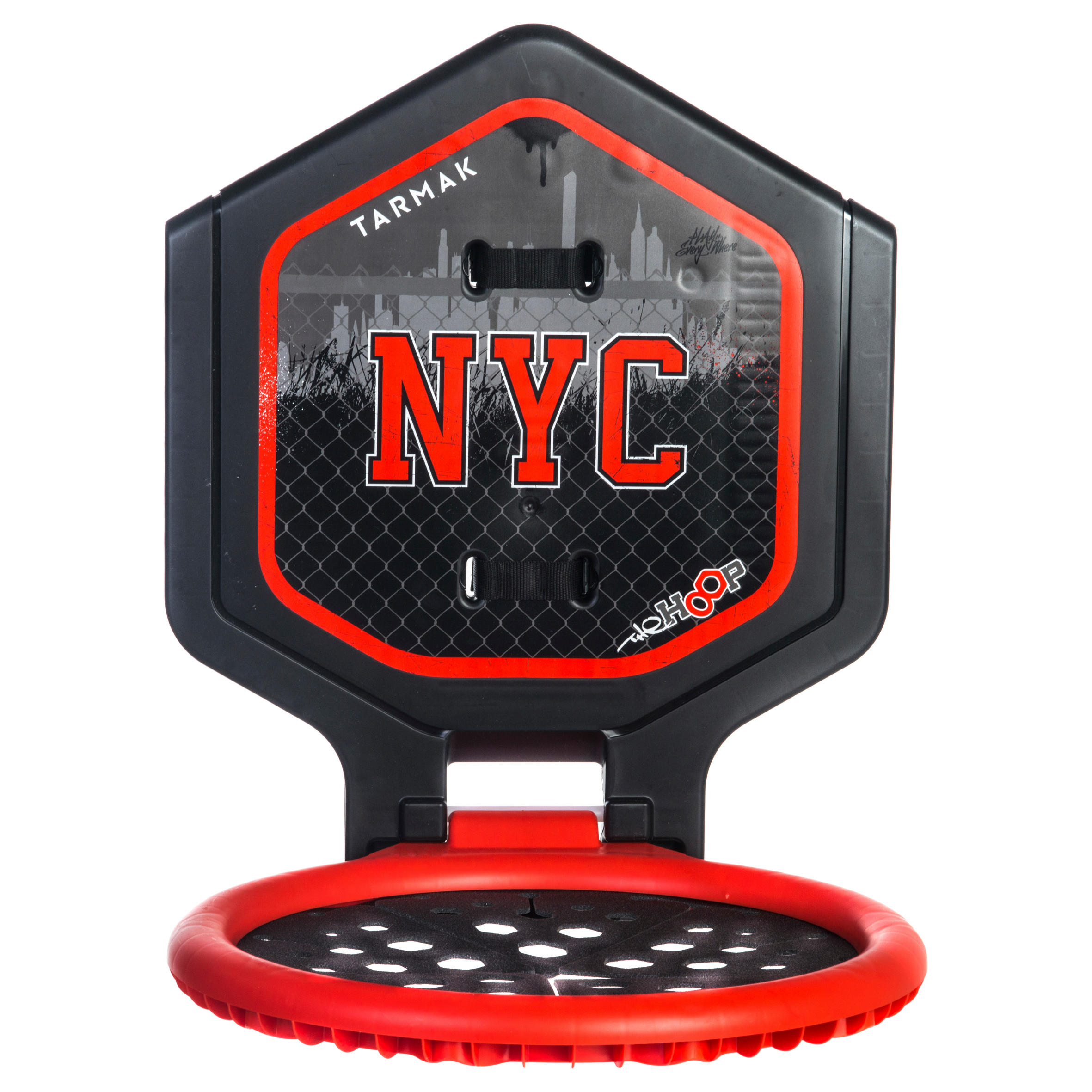The Hoop Kids'/Adult Basketball Hoop - Black/Red NYCTransportable.