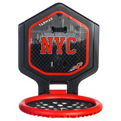 Canasta de baloncesto THE HOOP NYC júnior/adulto negro rojo. Transportable.