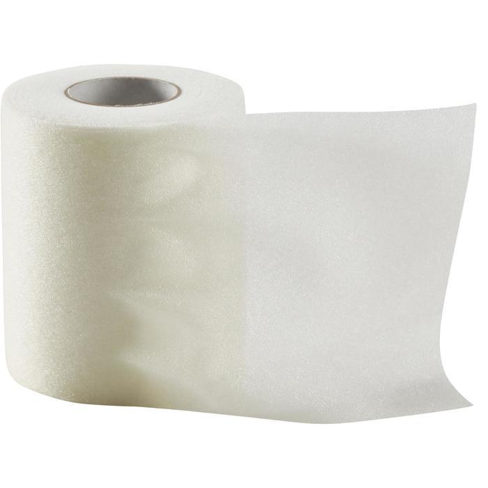 Schuimtape om in te tapen en de huid te beschermen 7 cm x 20 m wit