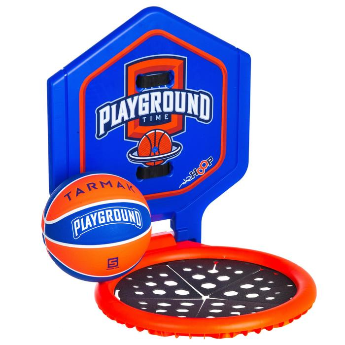 Panier de basket enfant/adulte THE HOOP Playground bleu orange. Transportable. - 1336436