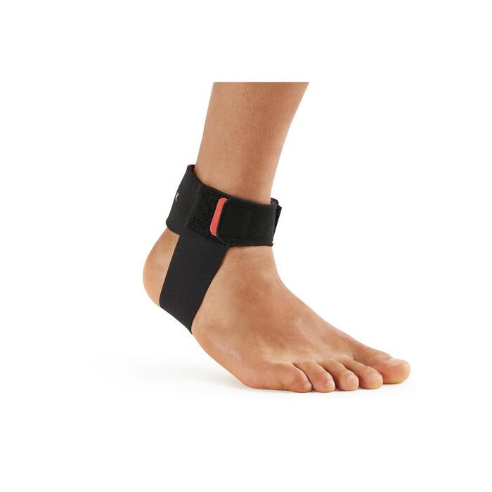 男/女款左右通用跟腱護帶-黑色