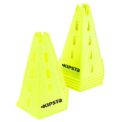 Lote de 6 conos modulables 30 cm amarillo