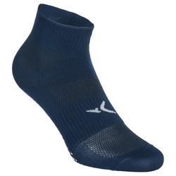 Calcetines antideslizantes gimnasia y pilates azul oscuro