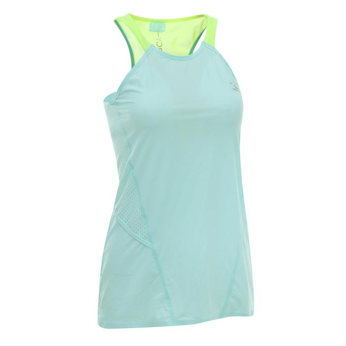 900 Women's Cardio Fitness Tank Top - Blue With White Details - 1336551