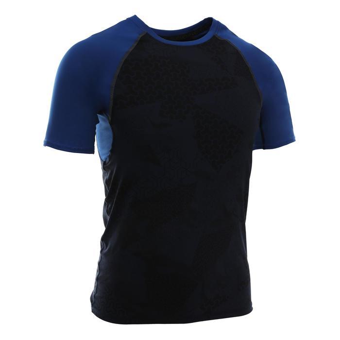 500 Cross-Training Compression T-Shirt - Black/Blue
