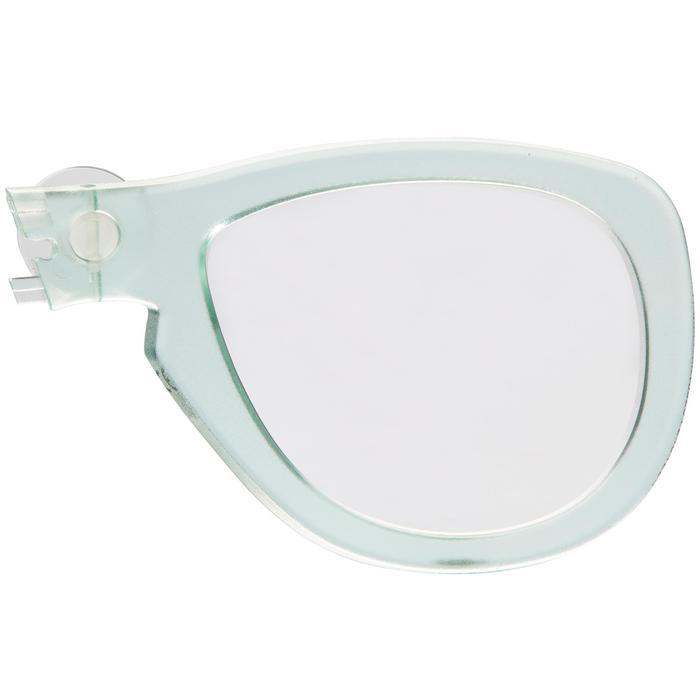 Korrekturglas rechts Kurzsichtigkeit für Easybreath-Maske mintgrün