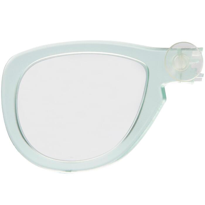 Verre correcteur droit myopie pour le masque Easybreath vert menthe