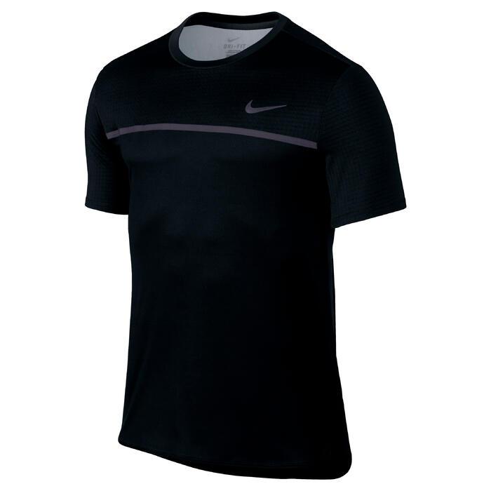 Tennis T-shirt voor heren Challenger zwart