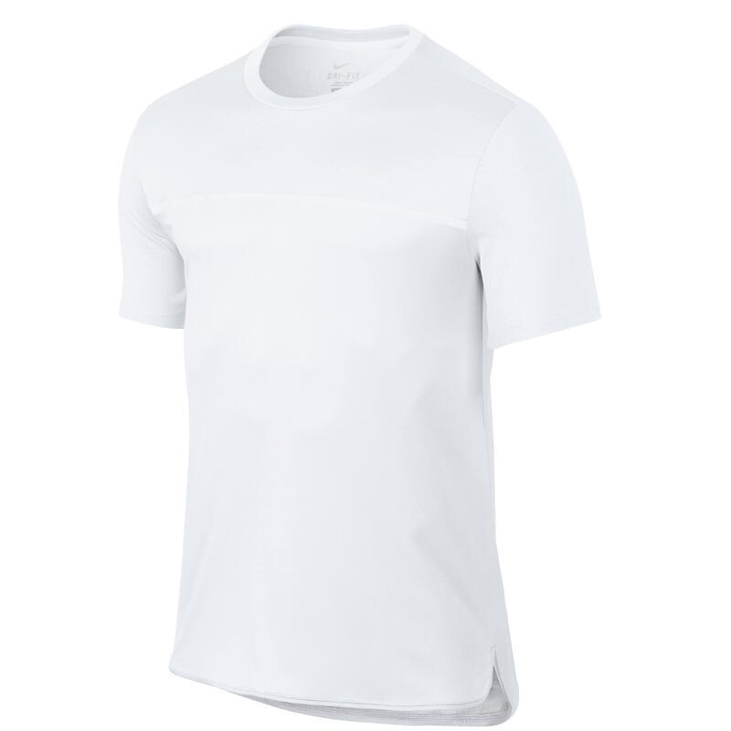 Pánské tenisové tričko Challenger bílé