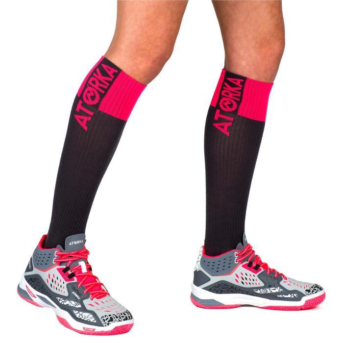 Handballsocken Mid HSK500 Erwachsene grau/pink