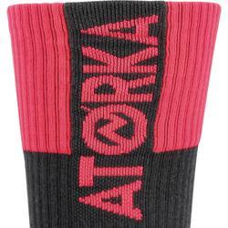 Handbalsokken H500 grijs/roze