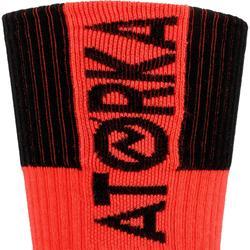 Handbalsokken voor volwassenen H500 rood/zwart