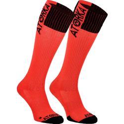 Handballsocken H500 hoch Damen rosa/schwarz
