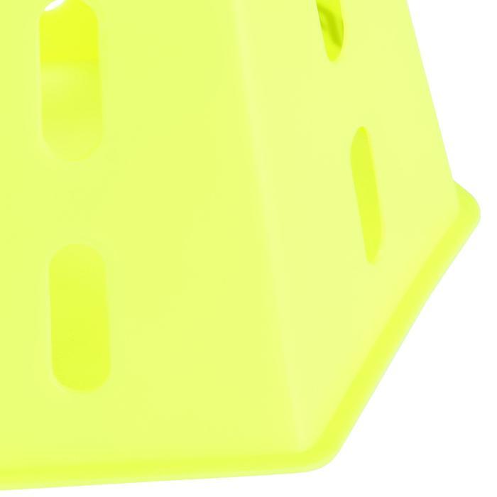 Set van 6 moduleerbare kegels 30 cm geel