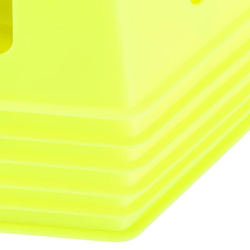 ชุดกรวยโมดูลาร์ขนาด 30 ซม. 6 ชิ้น (สีเหลือง)