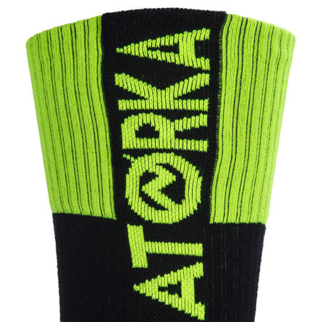 Bas de handball adulte H500 noir / vert