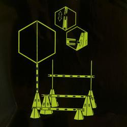 Pionnen set van 6, 30 cm hoog geel - 133670