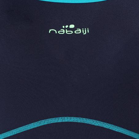 Kamiye+ Pakaian Renang One-Piece Tahan Klorin Wanita - Biru