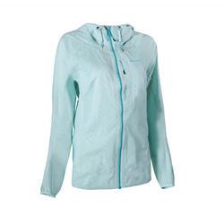 Women's Fast Hiking Waterproof Jacket FH500 Helium Rain - Mint