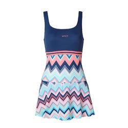 Loran 女款連身裙式泳裝- Evro 藍色