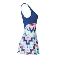 Loran Women's One-Piece Skirt Swimsuit - Evro Blue