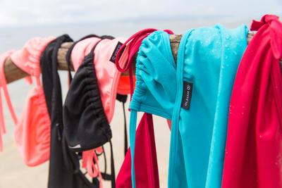 Mae בגד ים בסיסי חלק עליון משולשים מחליקים לנשים - טורקיז