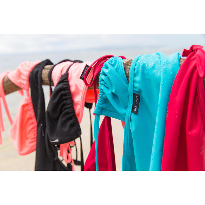 Sujetador de bikini mujer triángulos corredizos MAE AZUL TURQUESA
