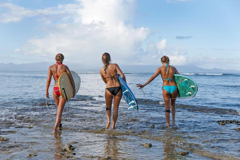 Bas de maillot de bain de surf femme nouée côté SOFY ORIGAMI