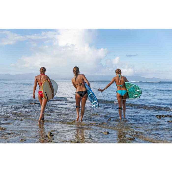 Braguita de bikini de surf mujer anudada a los lados SOFY ROJO