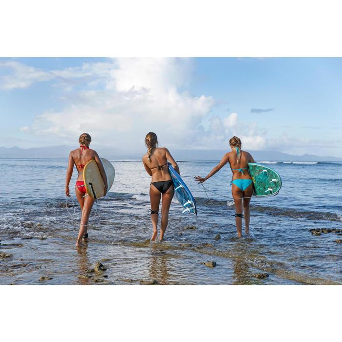 Sujetador de bikini mujer con triángulos corredizos MAE ROJO