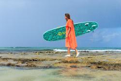 SURF PONCHO ADULT 500 Peach